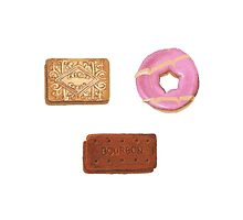 Biscuits: Custard Cream, Party Ring and Bourbon by christinaashman