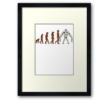 Robot Evolution Framed Print