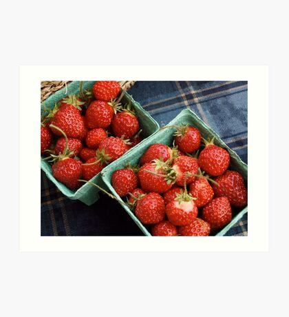 Farmers' Market Strawberries Art Print