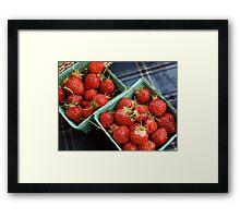 Farmers' Market Strawberries Framed Print