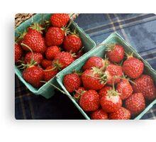 Farmers' Market Strawberries Metal Print