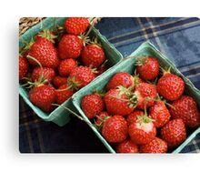 Farmers' Market Strawberries Canvas Print