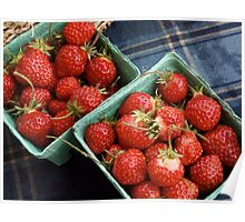 Farmers' Market Strawberries Poster