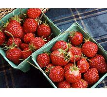 Farmers' Market Strawberries Photographic Print