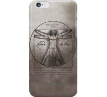 Leonardo da Vinci`s Vitruvian Man iPhone Case/Skin