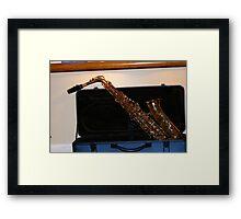 Mister Sax Framed Print