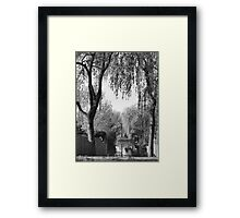 Behind the gardens Framed Print
