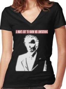 Dirty Harry - A Man's Got To Know His Limitations Women's Fitted V-Neck T-Shirt