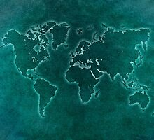 World map blue light by JBJart