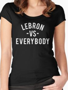 LeBron VS Everybody | White Women's Fitted Scoop T-Shirt