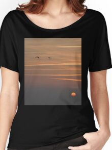 Sunset Contrails - Granville, France 2012 Women's Relaxed Fit T-Shirt