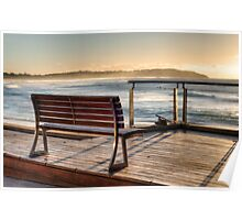 Dee Why beachside bench Poster