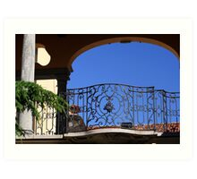 Pretty Balustrade Art Print