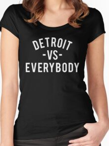 Detroit VS Everybody | White Women's Fitted Scoop T-Shirt