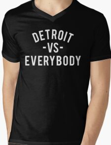 Detroit VS Everybody | White Mens V-Neck T-Shirt