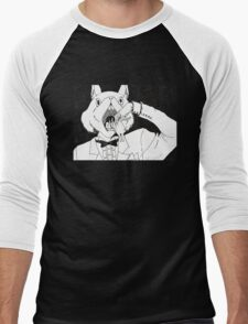 Bunny Cannibalism Men's Baseball ¾ T-Shirt