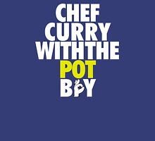Chef Curry With The Pot Boy [With 3 Sign] White/Gold Unisex T-Shirt