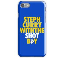 Steph Curry With The Shot Boy [With 3 Sign] Gold/White iPhone Case/Skin