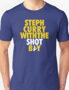 Steph Curry With The Shot Boy [With 3 Sign] Gold/White Unisex T-Shirt