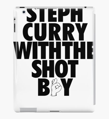 Steph Curry With The Shot Boy [With 3 Sign] Black iPad Case/Skin