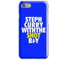 Steph Curry With The Shot Boy [With 3 Sign] White/Gold iPhone Case/Skin