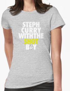 Steph Curry With The Shot Boy [With 3 Sign] White/Gold T-Shirt