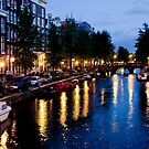 Golden Canal Lights by phil decocco