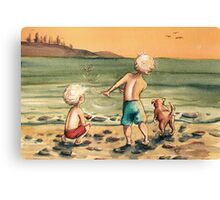 Skipping Stones Canvas Print