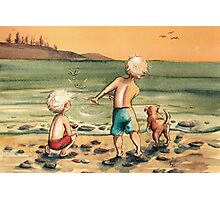 Skipping Stones Photographic Print