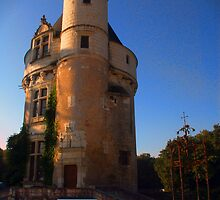 Tower at Chateau de Chenonceau, Loire Valley, France by John Taylor