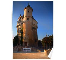 Tower at Chateau de Chenonceau, Loire Valley, France Poster