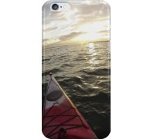 Sea Kayaking into the Sunset iPhone Case/Skin