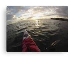 Sea Kayaking into the Sunset Canvas Print