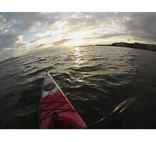 Sea Kayaking into the Sunset Photographic Print