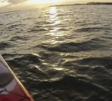 Sea Kayaking into the Sunset Sticker