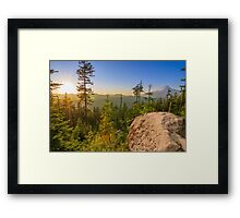 Beautiful Vista of Mount Hood in Oregon, USA. Framed Print