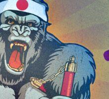 Karate Kong Sticker
