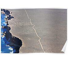 Bunda Cliffs Track Nullarbor Poster