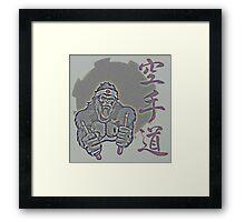 Aged Kung Fu Kong Framed Print