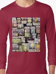 Pon and Zi Collage Long Sleeve T-Shirt