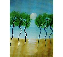 Trees(green) Series #2, watercolor Photographic Print