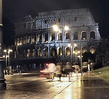 Roman Coliseum at Night by Judson Joyce