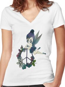 Tinky (tinkerbell fairy) Women's Fitted V-Neck T-Shirt