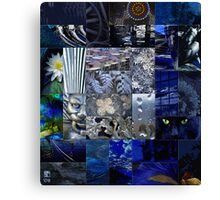 Patchwork of Blues Canvas Print