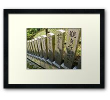 Japanese Pillars Framed Print
