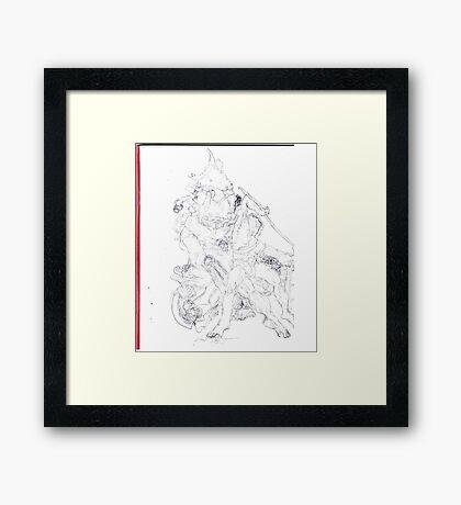Drawing: Tate Gallery Sculpture -(270511)- Black Biro Pen Framed Print
