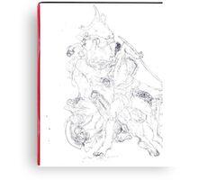 Drawing: Tate Gallery Sculpture -(270511)- Black Biro Pen Canvas Print