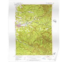 USGS Topo Map Oregon Sweet Home 282936 1951 62500 Poster