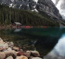Lake Louise in Alberta, Canada by Margaret Metcalfe