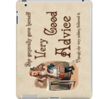 Alice in Wonderland Quote - Very Good Advice -  Lewis Carroll Quote - 0242 iPad Case/Skin